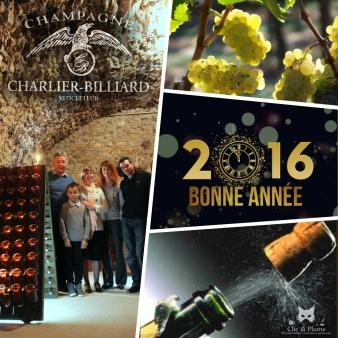 Voeux 2016,  Champagne Charlier billiard