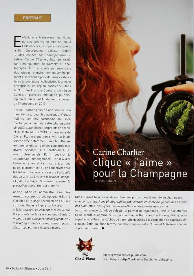 Article Bulles & Millésimes n°2 - Clic & Plume