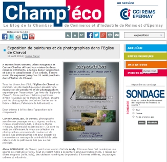 article champeco expo chavot 2014