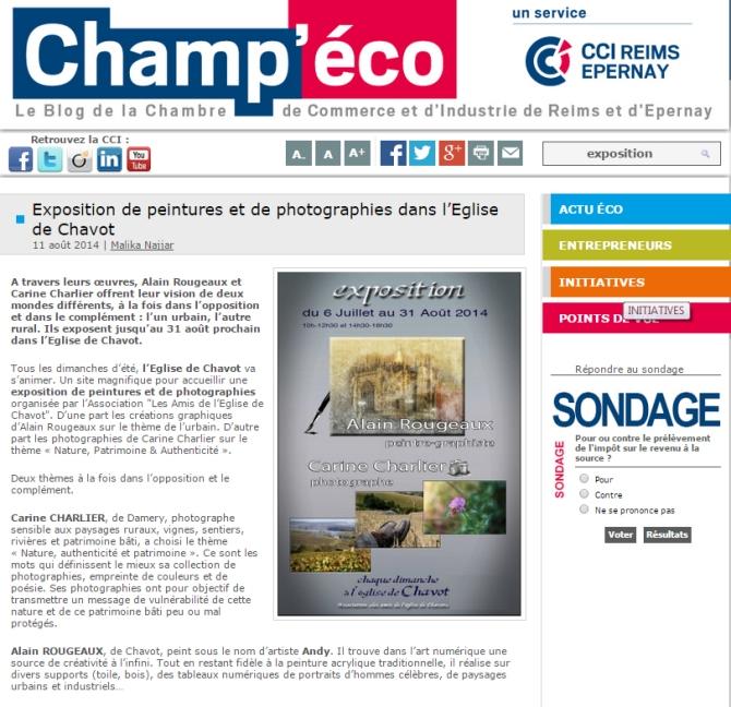 article champeco expo chavot 2014