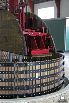 Pressoir à l'ancienne - Champagne Renard - Barnier / © Carine Charlier / www.clic-et-plume.com
