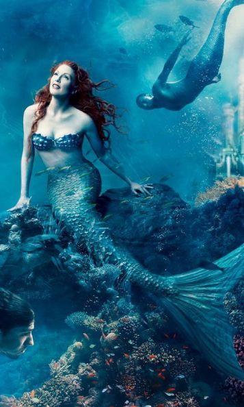 Julianne Moore en Ariel la petite Sirène