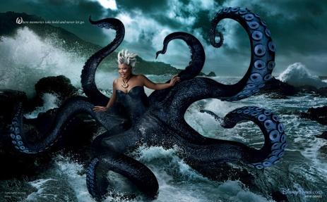 Queen Latifah en Ursula dans la Petite Sirène