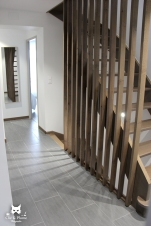 escalier réalisé par le créateur du gîte