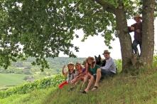 Célia, Charles, Malice & leur famille à Grauves.