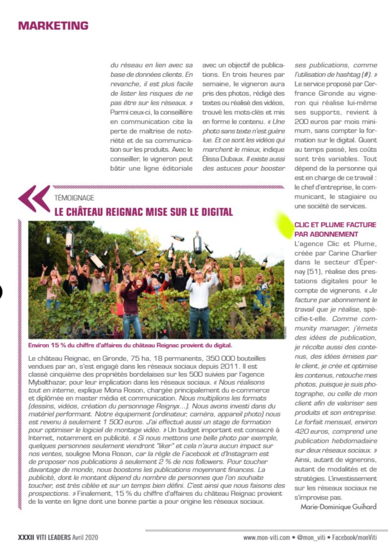 article viti réseaux sociaux 2020 p2